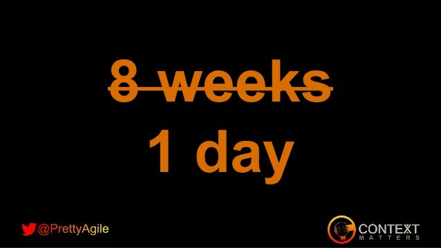 www.prettyagile.com Cycle time reduced from 1 year to less than 3 months 95% decrease in defects Cost to deliver down 70% ...