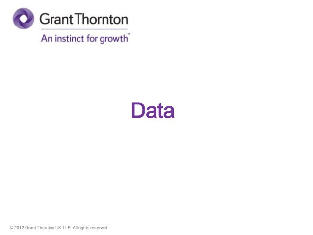 © 2012 Grant Thornton UK LLP. All rights reserved. Data