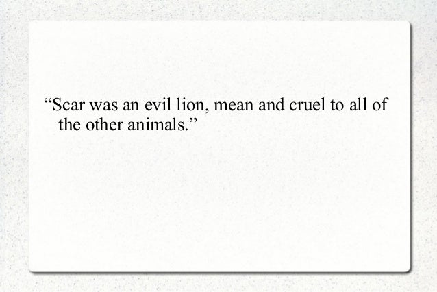 the lion king essay Free essay: in the lion king, minkoff and allers present a clear difference  between good and evil, whereas shakespeare's depiction of good.
