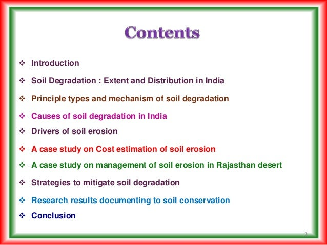 an introduction and an analysis of the soil erosion and the agriculture industry Introduction - healthy agricultural soil for a healthy future 9  analysis by producers, industry, government  erosion and soil.