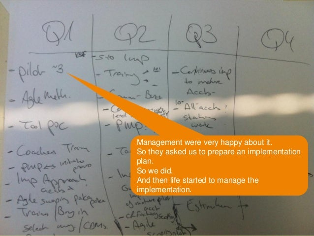 © 2014 – Copyright Amdocs. All rights reserved6 Management were very happy about it. So they asked us to prepare an implem...