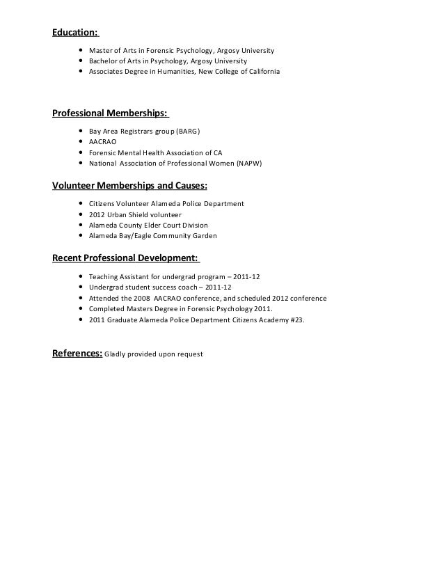 Career Resume Service Social  Associate Degree Resume