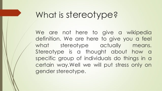 stereotyping gender and disability wome Women with disabilities: issues, resources, connections of gender and disability stereotyping tracks to women, disability, and gender-related.