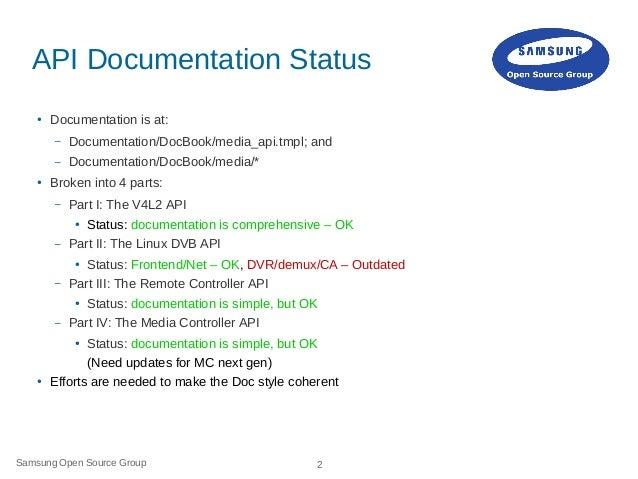 API and kABI Documentation and Improvements Slide 2