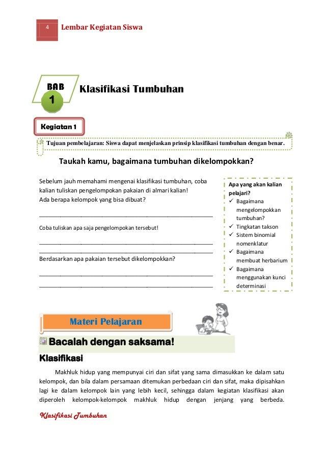Lks Klasifikasi Tumbuhan