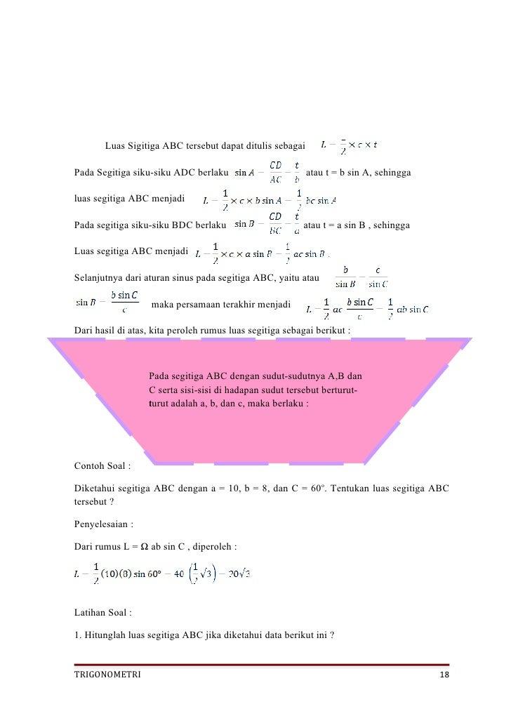 """Trigonometri """"peta konsep dan LKS"""""""