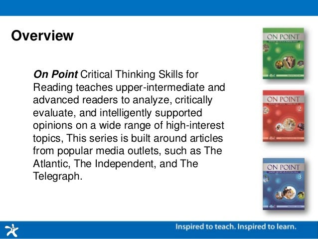 Application of critical thinking skills in reading and writing