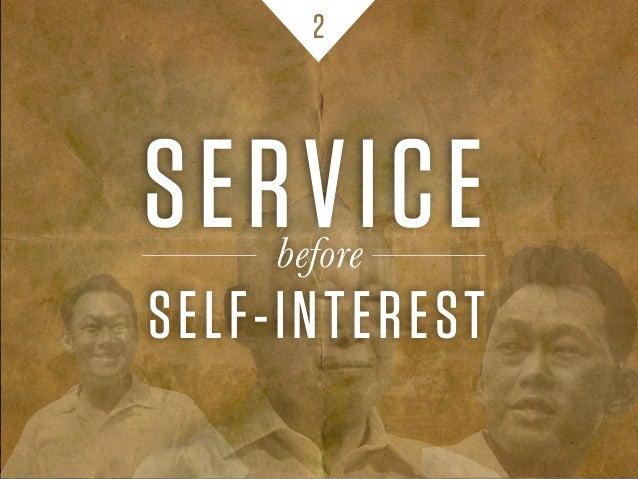 SERVICE SELF-INTEREST before 2