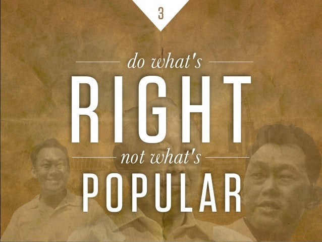 3 RIGHTnot what's POPULAR do what's