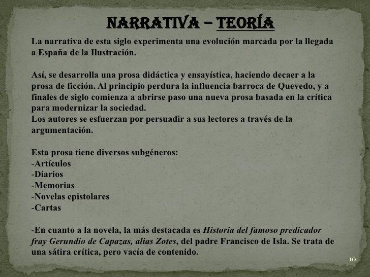 Lírica y Narrativa siglo XVIII