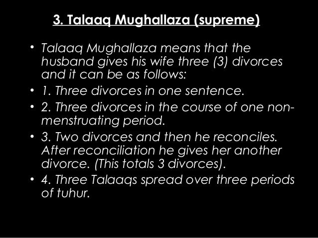divorce rules in islam Rules concerning use of lavatory  divorce issue 2507:  a man who divorces  his wife must be adult and sane, but if a boy of ten  issue 2509:  it is valid to  divorce a woman even if she is in haidh or nifas in the following circumstances.
