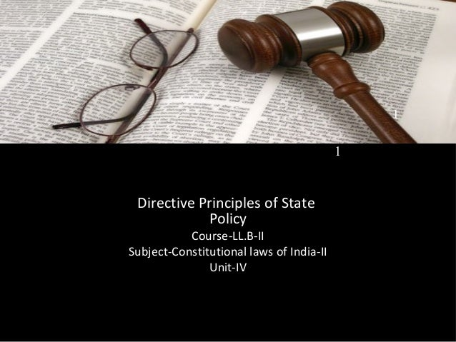 directive principles of state policy pdf