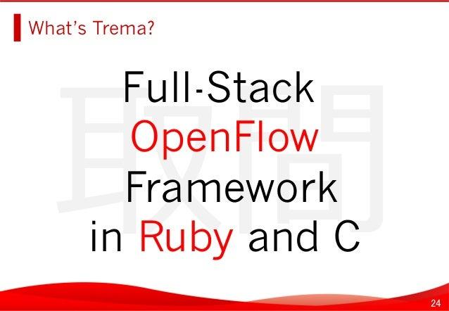 24 取間   What's Trema?   Full-Stack OpenFlow Framework in Ruby and C