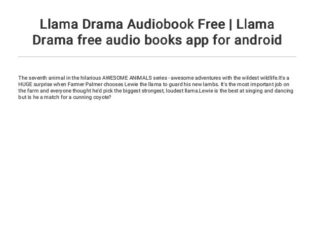 Llama Drama Audiobook Free | Llama Drama free audio books app for and…