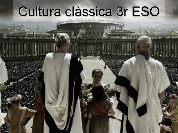 Cultura clàssica 3r ESO