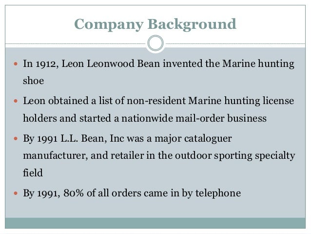 l l bean item forecasting case study Ll bean, inc case study 1 how does ll bean use past demand data and a specific item forecast to decide how many units of that item to stock ll bean uses different type of calculation to determine the number of units of a particular item it should stock (new item or never out item) first we detect a frozen.