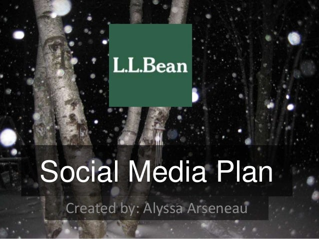 Social Media Plan Created by: Alyssa Arseneau