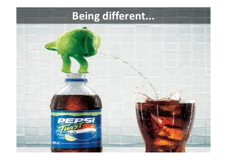 Being different...