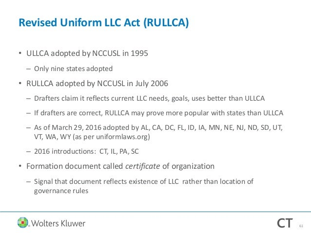 LLC Law Today and Beyond