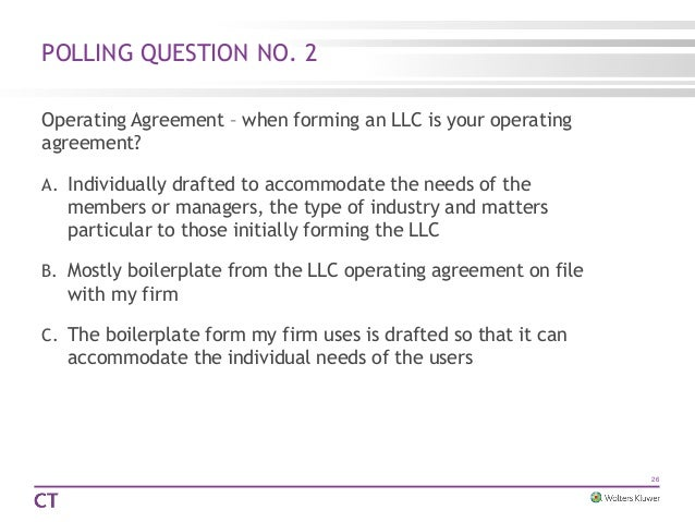 Llc law today beyond 27 polling question no 2 operating agreement platinumwayz