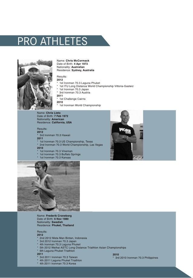 Triathlon booklet