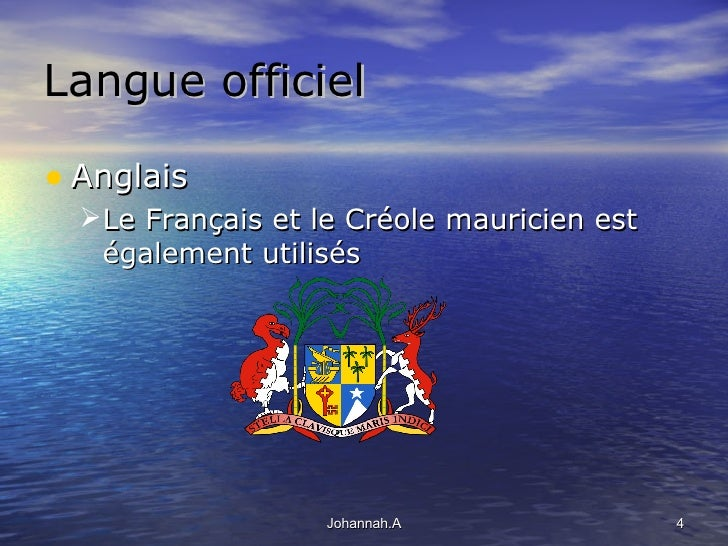 L le maurice for Creole mauricien