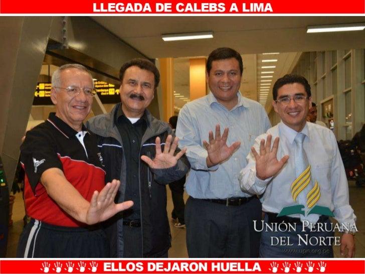 Llegada de calebs a Lima-UPN