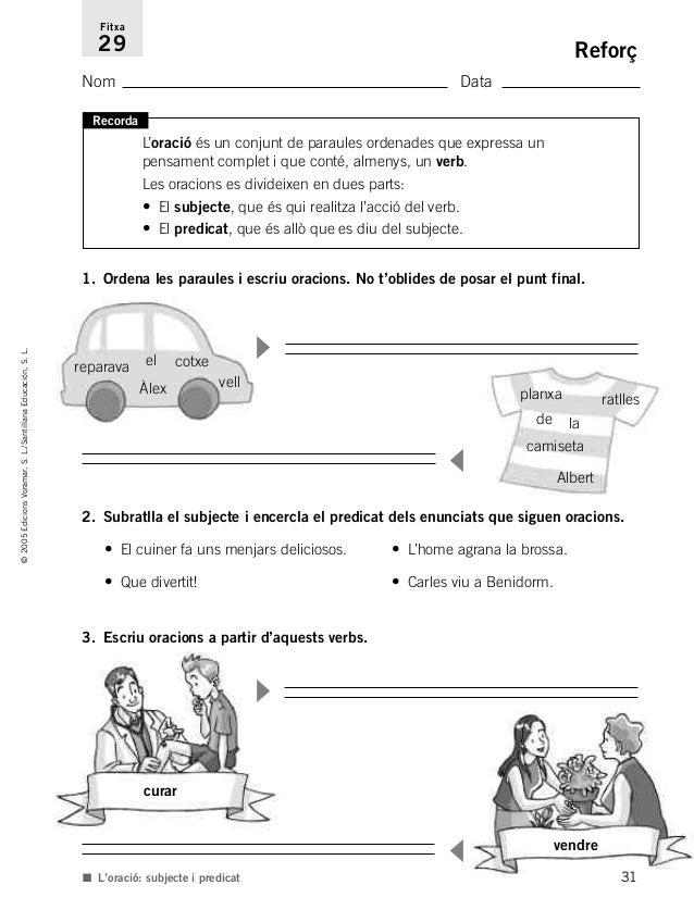 Resultado de imagen de reforç i ampliació valencià el verb