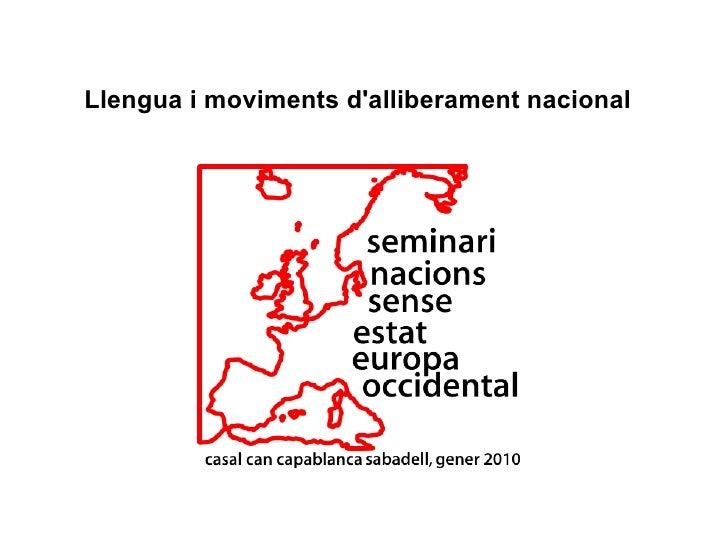 Llengua i moviments d'alliberament nacional