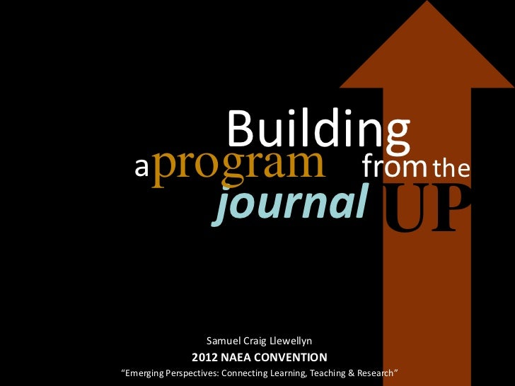 Building  aprogram                                              from the                      journal UP                  ...
