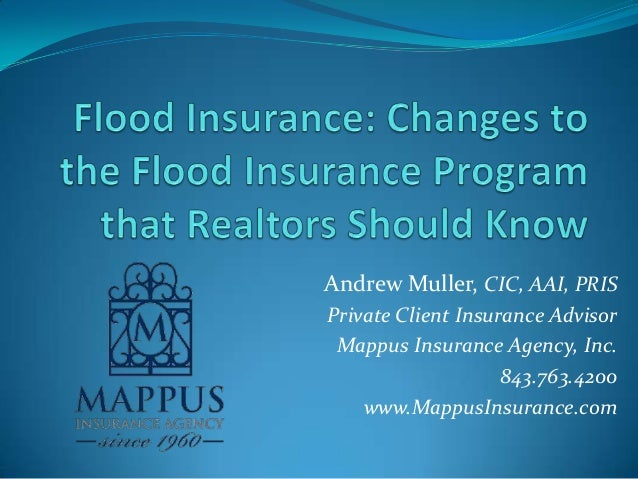 Andrew Muller, CIC, AAI, PRIS Private Client Insurance Advisor Mappus Insurance Agency, Inc. 843.763.4200 www.MappusInsura...