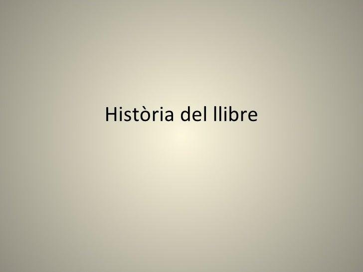 Història del llibre