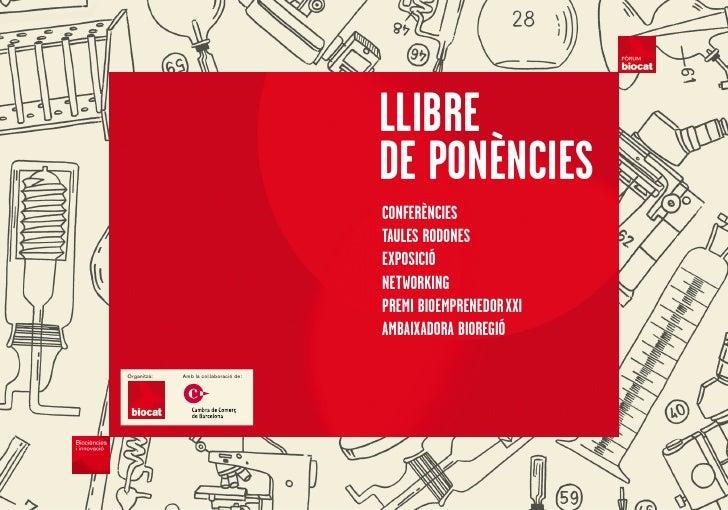 LLIBRE                                        DE PONÈNCIES                                        CONfERÈNCIES            ...
