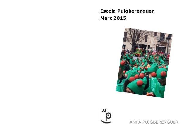 AMPA PUIGBERENGUER Escola Puigberenguer Març 2015