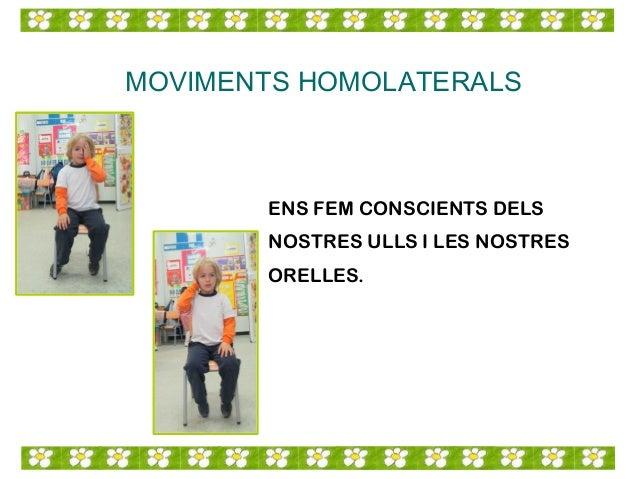 MOVIMENTS HOMOLATERALS ENS FEM CONSCIENTS DELS NOSTRES ULLS I LES NOSTRES ORELLES.