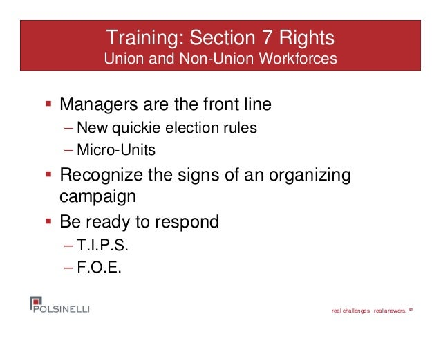 Working with non-union representatives