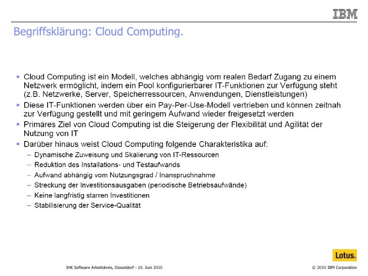 Begriffsklärung: Cloud Computing.