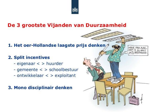 De 3 grootste Vijanden van Duurzaamheid1. Het oer-Hollandse laagste prijs denken2. Split incentives   - eigenaar < > huurd...