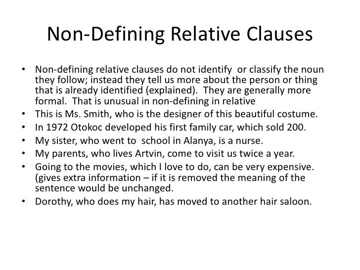 defining and non defining relative clauses exercises pdf