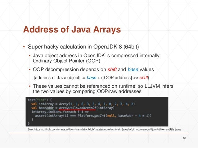 LLJVM: LLVM bitcode to JVM bytecode
