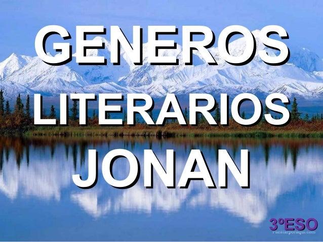 GENEROSLITERARIOS JONAN         3ºESO
