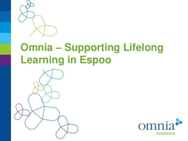 Omnia – Supporting LifelongLearning in Espoo