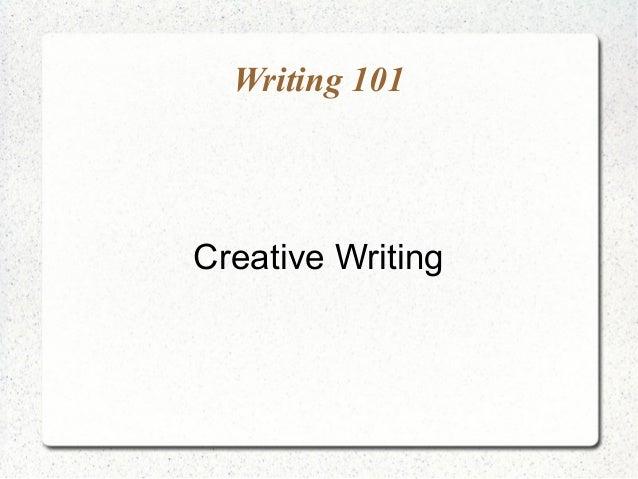 Creative Writing Slideshare