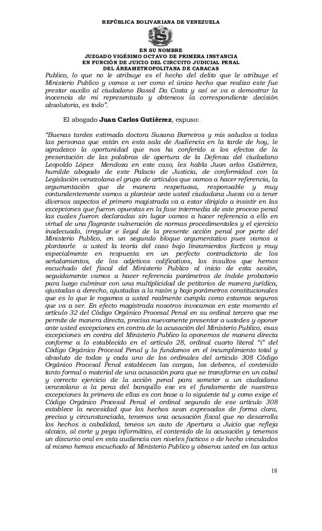 Sentencia contra leopoldo lpez ministerio 18 repblica bolivariana de fandeluxe Image collections