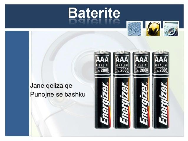 Bateri 9 V Brenda nje baterie 9 V jane te lidhura 6 bateri 1.5 v 6 x 1.5 =9v
