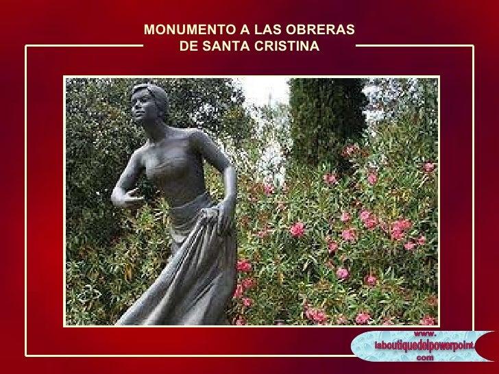 MONUMENTO A LAS OBRERAS DE SANTA CRISTINA
