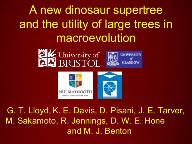 A new dinosaur supertree   and the utility of large trees in          macroevolutionG. T. Lloyd, K. E. Davis, D. Pisani, J...