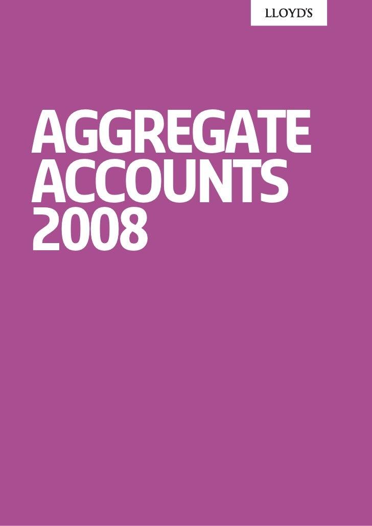 Aggregate Accounts 2008