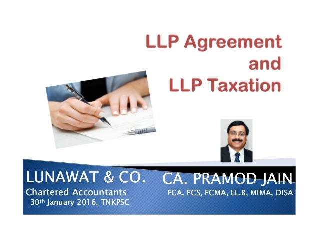 Llp Agreement And Llp Taxation