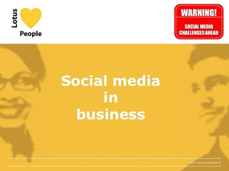 Social media in business<br />